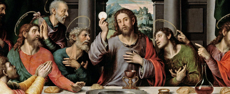 """The Eucharist is ""the source and summit of the Christian life. The other sacraments, and indeed all ecclesiastical ministries and works of the apostolate, are bound up with the Eucharist and are oriented toward it. For in the blessed Eucharist is contained the whole spiritual good of the Church, namely Christ himself, our Pasch."" - CCC"" ""The Eucharist is ""the source and summit of the Christian life. The other sacraments, and indeed all ecclesiastical ministries and works of the apostolate, are bound up with the Eucharist and are oriented toward it. For in the blessed Eucharist is contained the whole spiritual good of the Church, namely Christ himself, our Pasch."" - Catechism of the Catholic Church"