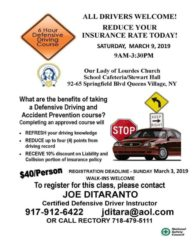 Defensive driving course @ Stewart Hall