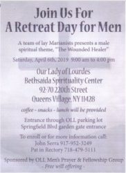 """A Retreat Day for Men - """" The Wounded Healer"""" @ Bethsaida Spiritual Center"""