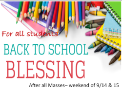All Masses- Black to School Blessing